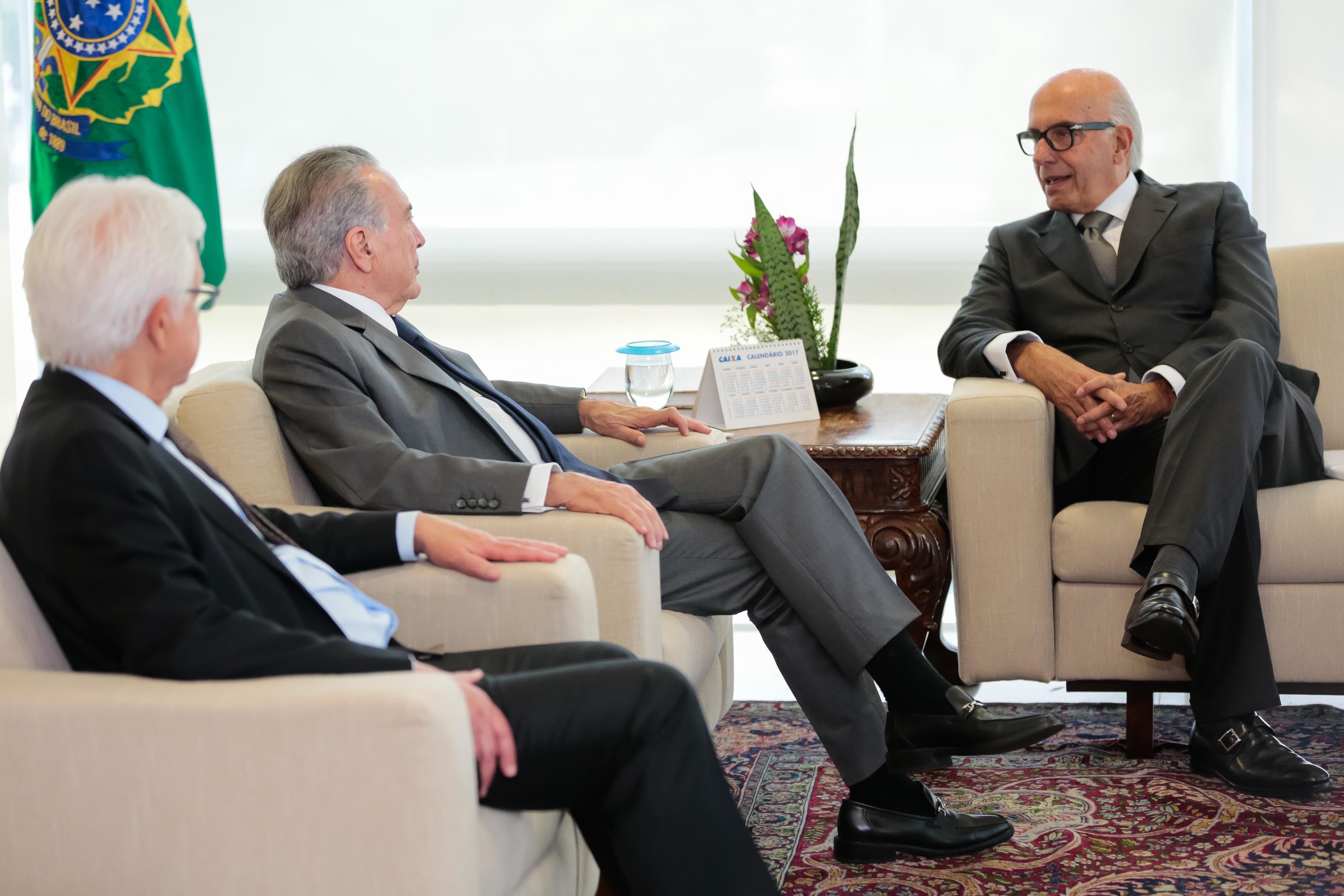 Luiz Ildefonso Simões Lopes   Brookfield Brasil   Luiz Ildefonso Simões Lopes, CEO da Brookfield Brasil, encontrou-se com o atual Presidente da República Michel Temer
